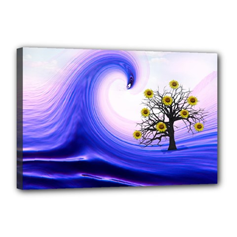 Composing Nature Background Graphic Canvas 18  X 12  (stretched) by Sapixe