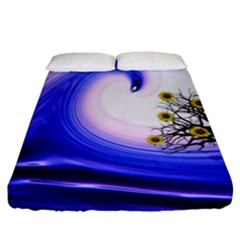 Composing Nature Background Graphic Fitted Sheet (california King Size)