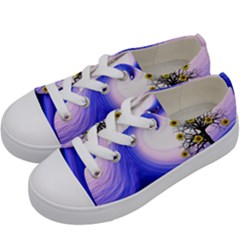 Composing Nature Background Graphic Kids  Low Top Canvas Sneakers by Sapixe