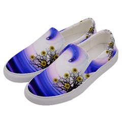 Composing Nature Background Graphic Men s Canvas Slip Ons by Sapixe