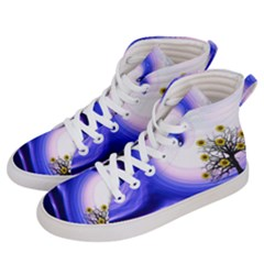Composing Nature Background Graphic Men s Hi Top Skate Sneakers by Sapixe