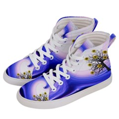 Composing Nature Background Graphic Women s Hi Top Skate Sneakers by Sapixe