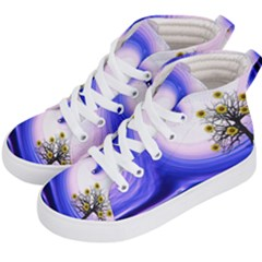 Composing Nature Background Graphic Kid s Hi Top Skate Sneakers by Sapixe