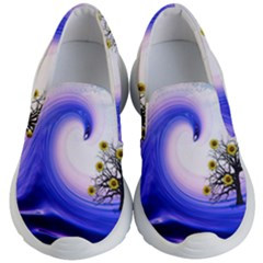 Composing Nature Background Graphic Kid s Lightweight Slip Ons by Sapixe