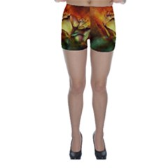 Rose Flower Petal Floral Love Skinny Shorts by Sapixe