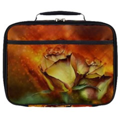 Rose Flower Petal Floral Love Full Print Lunch Bag by Sapixe