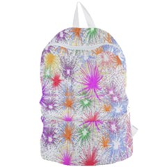 Star Dab Farbkleckse Leaf Flower Foldable Lightweight Backpack