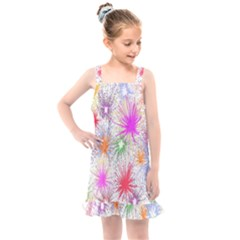 Star Dab Farbkleckse Leaf Flower Kids  Overall Dress by Sapixe