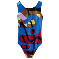 Creativeness Art Illustration Kids  Cut-out Back One Piece Swimsuit