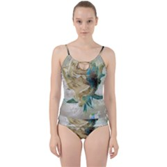 Rose Flower Petal Love Romance Cut Out Top Tankini Set