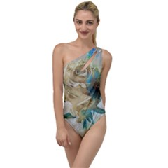Rose Flower Petal Love Romance To One Side Swimsuit by Sapixe