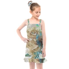 Rose Flower Petal Love Romance Kids  Overall Dress