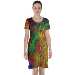 Background Color Template Abstract Short Sleeve Nightdress