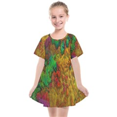 Background Color Template Abstract Kids  Smock Dress