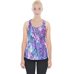 Background Peel Art Abstract Piece Up Tank Top
