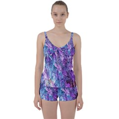 Background Peel Art Abstract Tie Front Two Piece Tankini