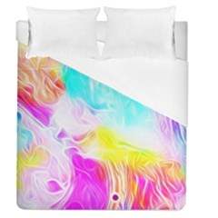 Background Drips Fluid Colorful Duvet Cover (queen Size)