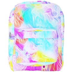 Background Drips Fluid Colorful Full Print Backpack