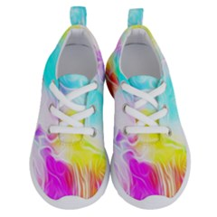 Background Drips Fluid Colorful Running Shoes by Sapixe