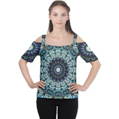 Pattern Abstract Background Art Cutout Shoulder Tee