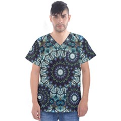 Pattern Abstract Background Art Men s V Neck Scrub Top