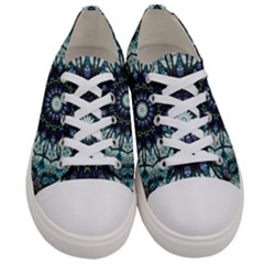 Pattern Abstract Background Art Women s Low Top Canvas Sneakers