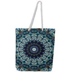 Pattern Abstract Background Art Full Print Rope Handle Tote (large) by Sapixe