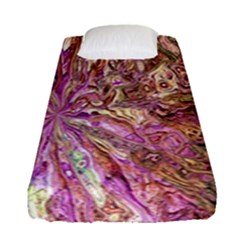 Background Swirl Art Abstract Fitted Sheet (single Size)