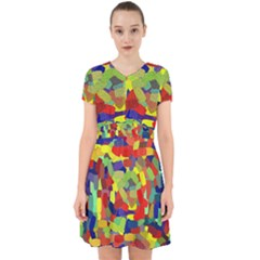 Abstract Art Structure Adorable In Chiffon Dress by Sapixe
