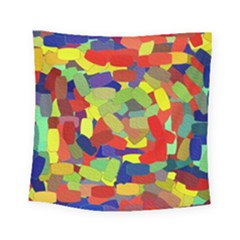 Abstract Art Structure Square Tapestry (small)