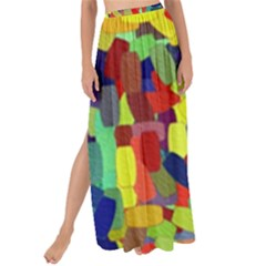 Abstract Art Structure Maxi Chiffon Tie Up Sarong