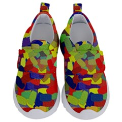 Abstract Art Structure Velcro Strap Shoes