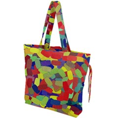Abstract Art Structure Drawstring Tote Bag