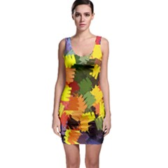 Mural Murals Graffiti Texture Bodycon Dress by Sapixe