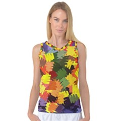 Mural Murals Graffiti Texture Women s Basketball Tank Top