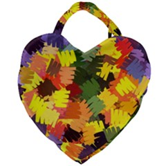 Mural Murals Graffiti Texture Giant Heart Shaped Tote by Sapixe