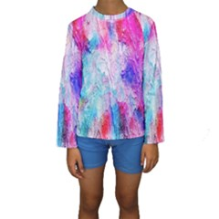 Background Art Abstract Watercolor Kids  Long Sleeve Swimwear by Sapixe