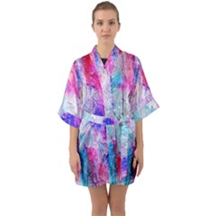 Background Art Abstract Watercolor Quarter Sleeve Kimono Robe by Sapixe