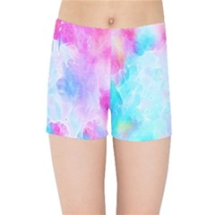 Background Drips Fluid Kids Sports Shorts by Sapixe