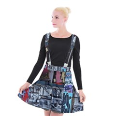 Lost Places Abandoned Train Station Suspender Skater Skirt