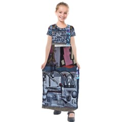 Lost Places Abandoned Train Station Kids  Short Sleeve Maxi Dress by Sapixe