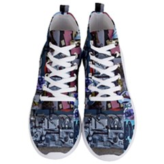 Lost Places Abandoned Train Station Men s Lightweight High Top Sneakers by Sapixe