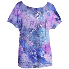 Background Art Abstract Watercolor Women s Oversized Tee