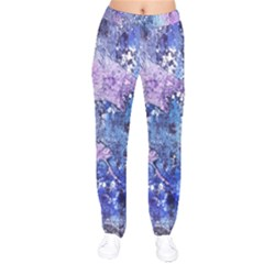Background Art Abstract Watercolor Velvet Drawstring Pants