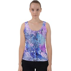 Background Art Abstract Watercolor Velvet Tank Top