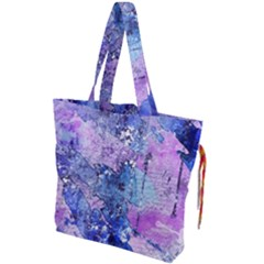 Background Art Abstract Watercolor Drawstring Tote Bag by Sapixe