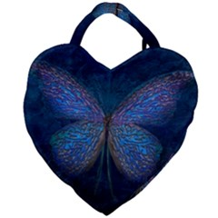 Butterfly Insect Nature Animal Giant Heart Shaped Tote by Sapixe