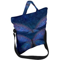 Butterfly Insect Nature Animal Fold Over Handle Tote Bag