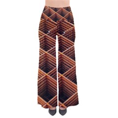 Metal Grid Framework Creates An Abstract So Vintage Palazzo Pants by Jojostore