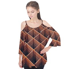 Metal Grid Framework Creates An Abstract Flutter Tees by Jojostore